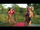 Mel vs. Eva - Topless Boxing