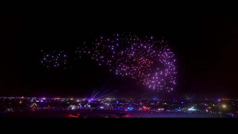 Studio Drifts drone show at Burning Man 2018