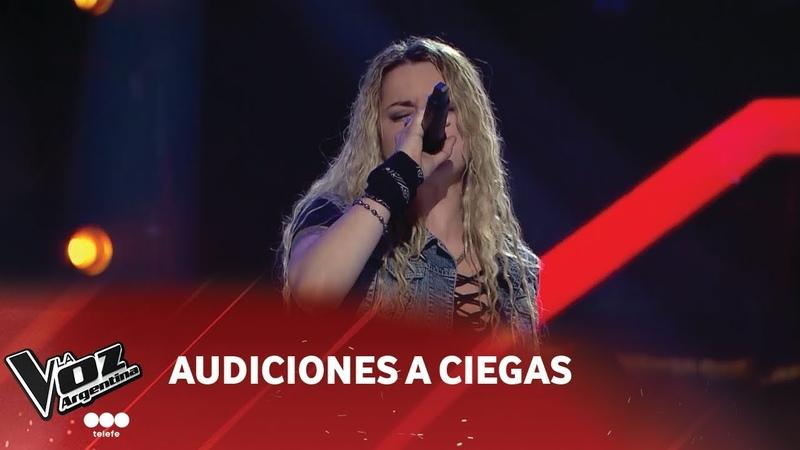 S. Zanollo - Welcome to the jungle - Guns N Roses - Audición a Ciegas - La Voz Argentina 2018