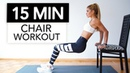 15 MIN CHAIR WORKOUT - Extreme Full Body Training / Nothing for Beginners | Pamela Rf
