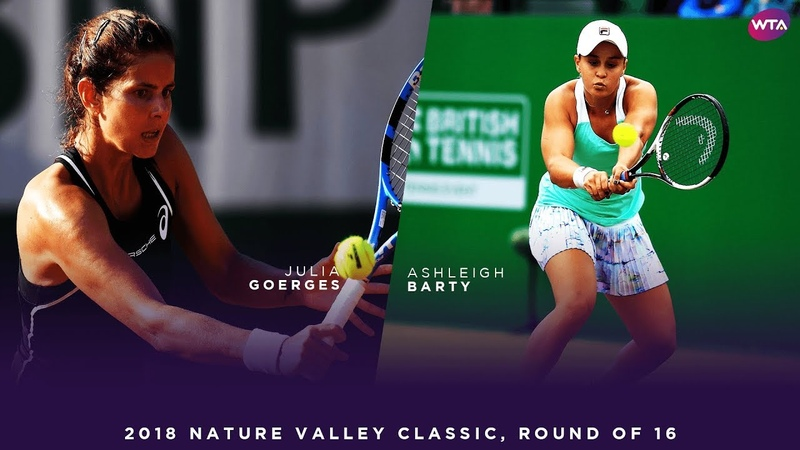 Julia Goerges vs. Ashleigh Barty | 2018 Nature Valley Classic Round of 16 | WTA Highlights