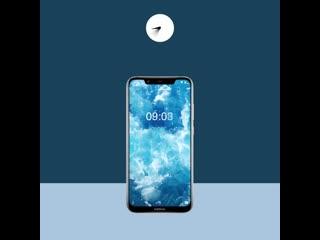 Играй, снимай, смотри, общайся — аккумулятора Nokia 8.1 хватит надолго.