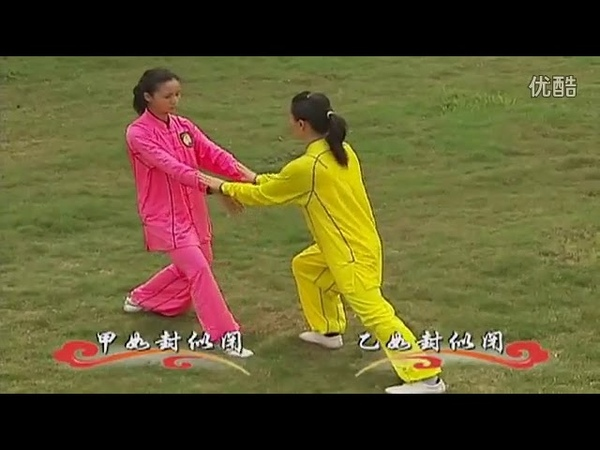 Китайская программа по Ян ши Тайцзи цюань 2 часть с 1 го по 6 ой дуань ДУЙЛЯНЬ