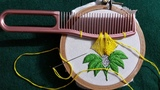 Amazing Hair Comb Trick Hand Embroidery Design #100 Beautiful cushion Flower
