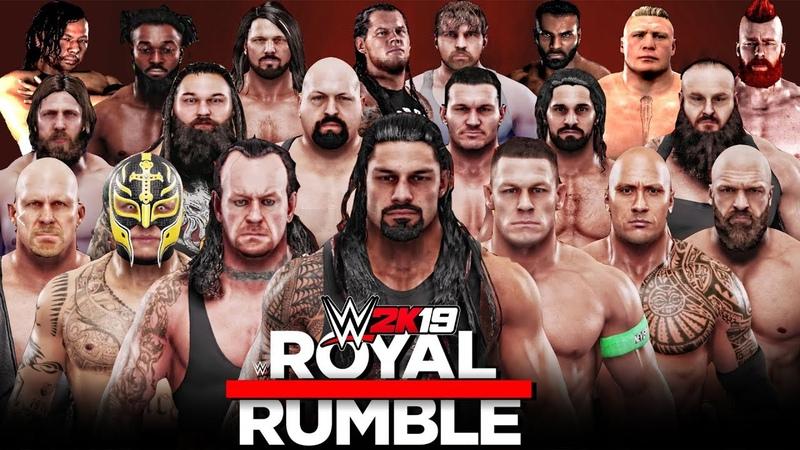 WWE 2K19 30 Man Royal Rumble Match
