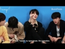 РУС САБ BTS Plays With Puppies While Answering Fan Questions