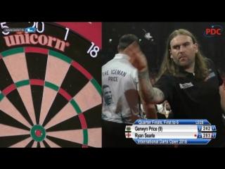 2018 International Darts Open Quarter Final Price vs Searle