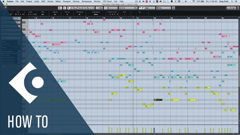 How to Edit Multiple MIDI Parts Simultaneously in Cubase | QA with Greg Ondo