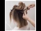 Даже на коротких волосах можно сделать такую красоту. Браво мастеру!