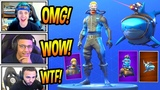 STREAMERS REACT TO NEW LASER CHOMP GLIDER + WRECK RAIDER &amp REEF RANGER SKINS! Fortnite Moments