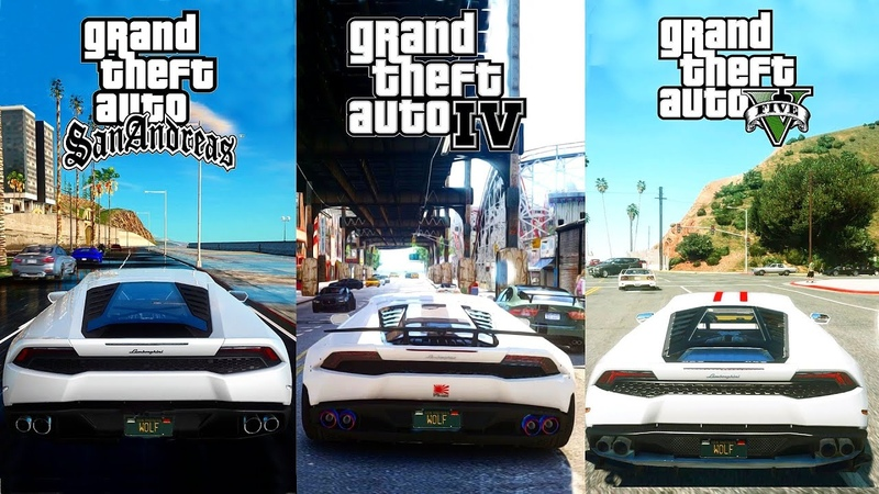 GTA V NaturalVision vs GTA IV CryENB vs GTA SA DirectX 2.0 2018 Ultimate Graphics Comparison! 4K