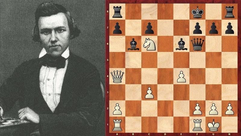 Шахматы ЗАМЕЧАТЕЛЬНАЯ КОМБИНАЦИЯ великого Пола Морфи