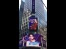 180515 Поздравление с дебютом от международного фанклуба Мубо на Таймс-сквер