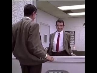 Мистер Бин танец у зеркала . Mr.Bean