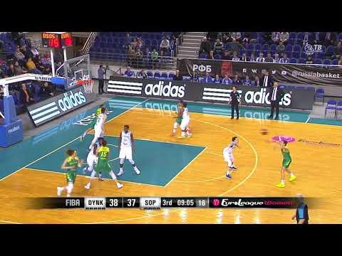 06 02 2019 Natasha Renee Howard Blocks in Dynamo Kursk vs Uniqa Sopron
