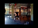 Парный жим стоя-101кг. Гири51кг+50кг.Two-hand standing shoulder press -101 kg.Kettlebells51kg+50kg