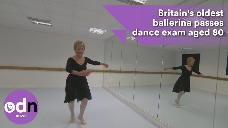 Britain's oldest ballerina passes dance exam aged 80