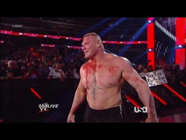 OMG Brock Lesnar Destroyed Triple H at Raw Wrestlemania
