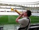 Vuvuzela im Stadion in Kapstadt