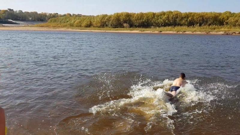 23 сентября ,пляж Сыктывкара. 22 градуса, вода 10гр.