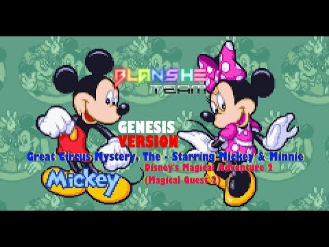Great Circus Mystery, The - Starring Mickey Minnie(2 Players Blanshe, Wardoctor) SMD(GENESIS)