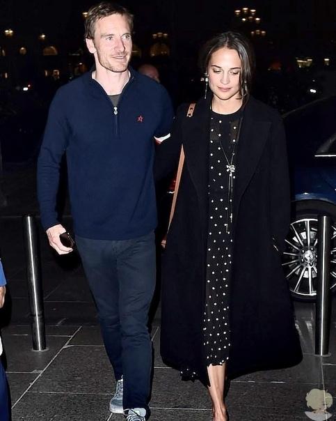 Алисия Викандер и Майкл Фассбендер сходили на свидание в Париже