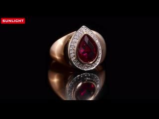 Золотое кольцо с бриллиантами и рубинами из коллекции Ruby
