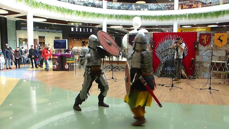 Игра Престолов в Тюмень Сити Молл Ч8 Рыцарский поединок