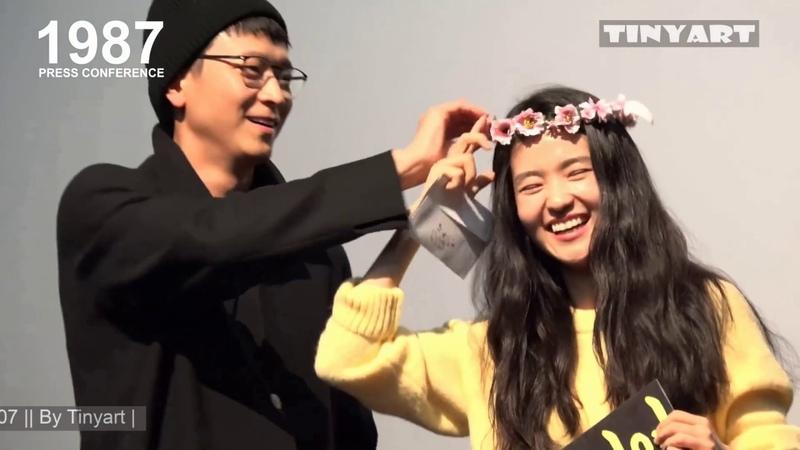 | Kang Dong Won Cut - 1987 Press Conference at Apgujeong CGV 20180107 || By Tinyart |