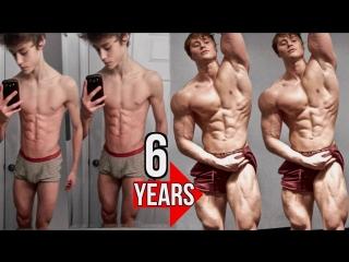 David Laid натуральная трансформация тела за 6 лет 13-19