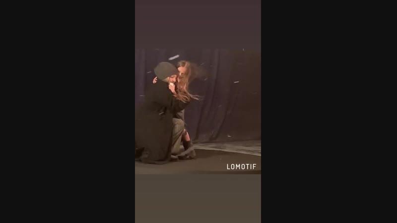 Полина Терешина и Екатерина Семёнова Съёмки клипа на песню Ангел твой киностудия Амедиа