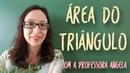 Área do Triângulo - Vivendo a Matemática com a Professora Angela