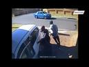 Женщина протаранила автомобиль грабителей обратив их в бегство