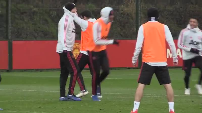 Giuseppe Rossi training with the United first team at Carrington. mufc [MEN]