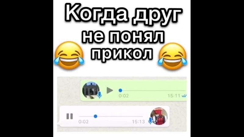 Когда друг не понял прикол😂