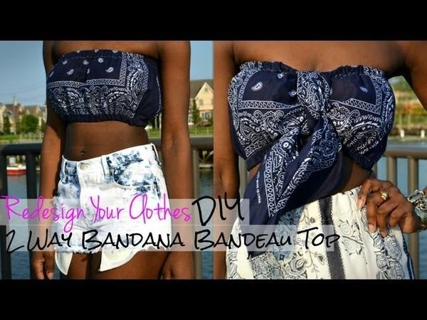 (RYC) 7 How To Make A 2 Way Bandana Bandeau Top