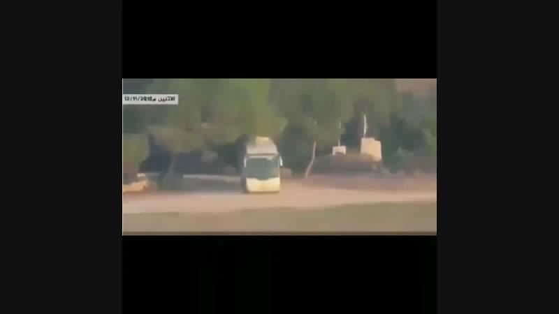 Уничтожение бойцами ХАМАС сионистского цахал автобуса