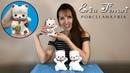 🐶 Erica Ferrari Porcelana Fría Gato de Fortuna Maneki-neko Clase Gratis DIY Tutorial Fácil