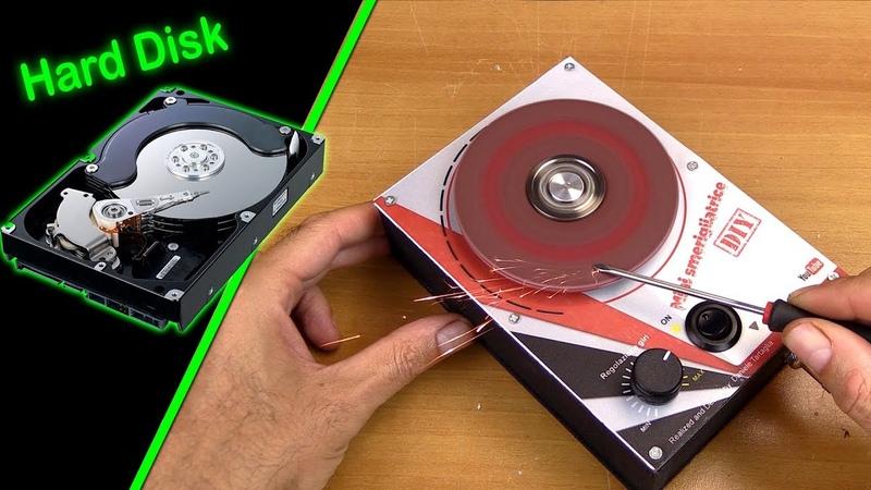 Smerigliatrice fai da te con Hard Disk - con regolazione giri