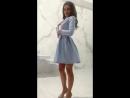 Платье-пиджак с пышной юбкой