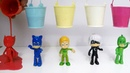 Pj Masks Toys Paint and Wash - Learn Colors Pj Masks Colored water
