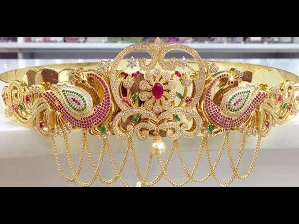 Latest Gold Cz Stones Vaddanam Collection