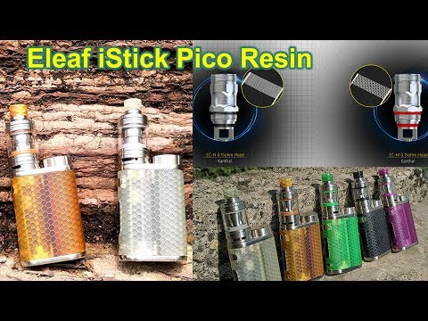 Eleaf iStick Pico Resin Kit with Ello 4 Froested Honeycomb Resin 1*18650 Kanthal Mesh Coil