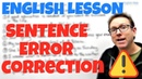 English learning video - Sentence correction
