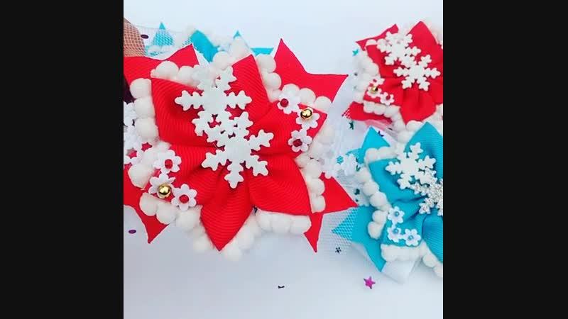 резиночки снежинки