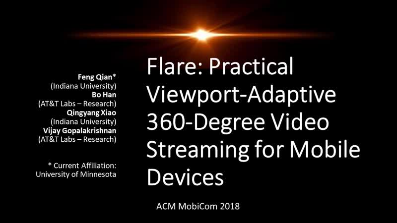 Flare- Practical Viewport-Adaptive 360-Degree Video Streaming for Mobile Devices