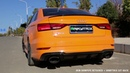 2018 Audi RS3 Sedan Glut Orange w ARMYTRIX Cat Back Exhaust REVS ACCELERATIONS