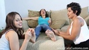 3 girls play a tickling game