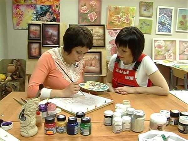 Мастер класс росписи по ткани (Батик) от Вероники Русско