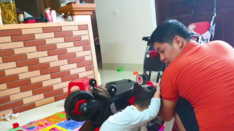 Bố BOZIN bóc hộp và lắp ráp xe máy điện mới mua❤ BOZIN VS XUKA❤